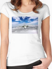 Avro Vulcan head on above clouds Women's Fitted Scoop T-Shirt