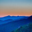 blue ridge sunset by Alexandr Grichenko