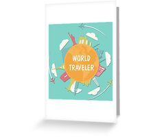 World Traveler Greeting Card