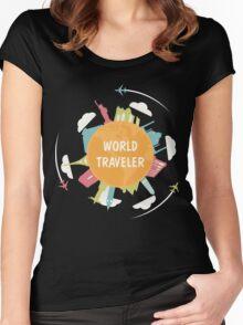 World Traveler Women's Fitted Scoop T-Shirt