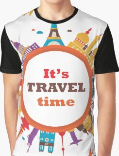 It's Travel Time Graphic T-Shirt