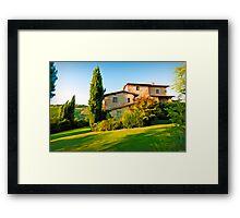 Tuscany Farmhouse  Framed Print