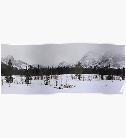 Misty Rockies (panorama) Poster