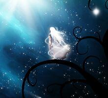 Windblown Starfall In Blue by Stephanie Rachel Seely
