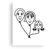 Balloon family sports Canvas Print