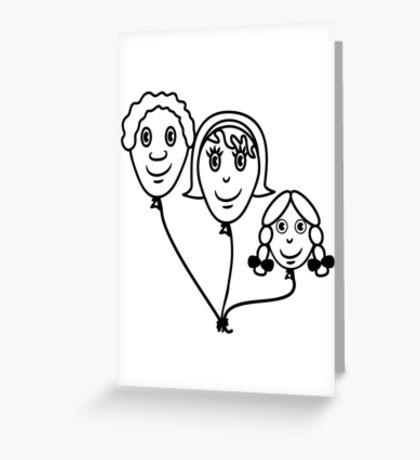 Balloon family sports Greeting Card