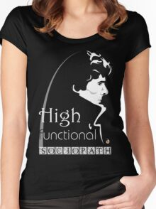 Sherlock: high functioning sociopath Women's Fitted Scoop T-Shirt