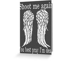Daryl Dixon The Walking Dead Greeting Card