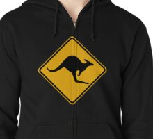 Be Careful Kangaroos! Zipped Hoodie