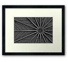 wooden ra Framed Print