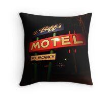 Li'l Biff's Motel Throw Pillow