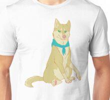Akita Dog with a Blue Bandana Unisex T-Shirt