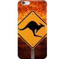 Be Careful Kangaroos! iPhone Case/Skin