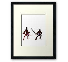 Obi Wan Kenobi VS Anakin Skywalker Framed Print