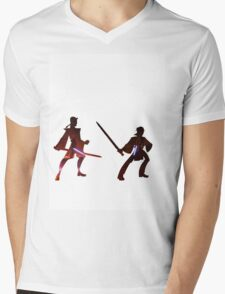 Obi Wan Kenobi VS Anakin Skywalker Mens V-Neck T-Shirt