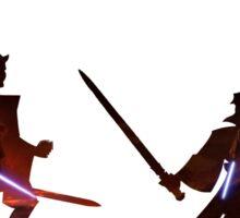 Obi Wan Kenobi VS Anakin Skywalker Sticker