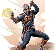 Deathstroke Strikes by artofbacon