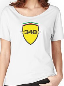 Ferrari 348 / Large Shield / Color Women's Relaxed Fit T-Shirt