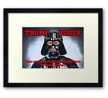 TRUMP VADER Framed Print