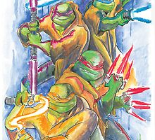 Turtle Jedi Masters by artofbacon