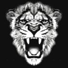 lion t-shirt on dark by parko