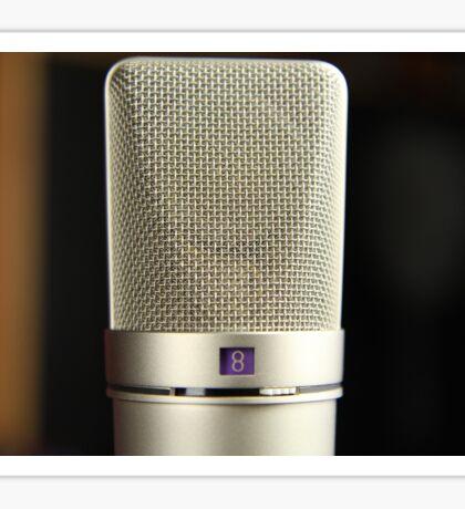 Vintage Silver Microphone Audiophile Sticker