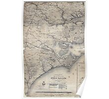 Civil War Maps 0354 Eastern portion of the Military Department of North Carolina 02 Poster