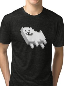 Cute Pixel Dog Tri-blend T-Shirt