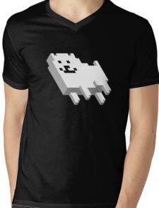 Cute Pixel Dog Mens V-Neck T-Shirt