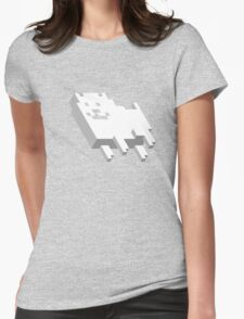 Cute Pixel Dog Womens Fitted T-Shirt