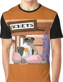 Utopia Express, ALL ABOARD! Graphic T-Shirt