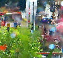 Rainy Powell Street Morning by David Denny