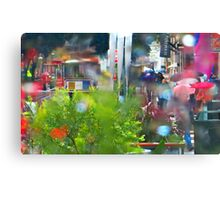 Rainy Powell Street Morning Canvas Print