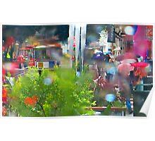 Rainy Powell Street Morning Poster