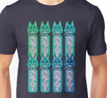 Bottle Cats Blue/Green Unisex T-Shirt