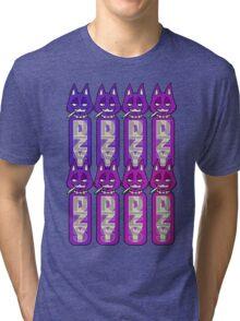 Bottle Cats Purple Tri-blend T-Shirt