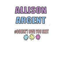 Allison Argent  by Spattergroit101