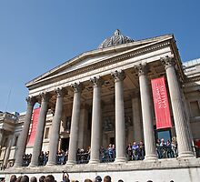 The National Gallery in Trafalgar Square London by Keith Larby