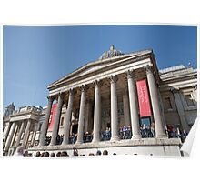The National Gallery in Trafalgar Square London Poster