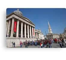 National Gallery & St Martin in the Fields church Canvas Print