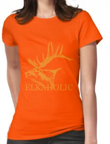 Elkaholic  Womens Fitted T-Shirt