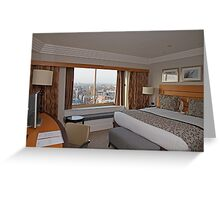 A suite view from Hilton Park Lane Hotel London Greeting Card