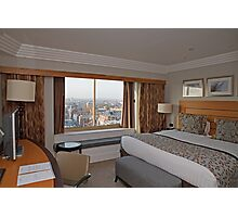 A suite view from Hilton Park Lane Hotel London Photographic Print