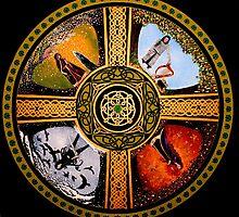 The Four Treasures Of Ireland Mandala by Marg Thomson by fullcirclemandalas  is Marg Thomson