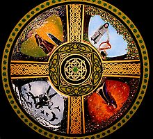 The Four Treasures Of Ireland Mandala by Marg Thomson by fullcirclemandalas  is Marg Thomson