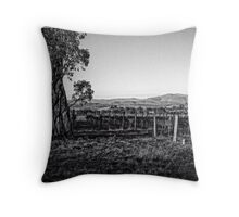 Vineyard behind Holt in Canberra Throw Pillow
