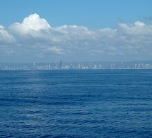 Surfers Paradise from the sea by Jacinta Dzioba