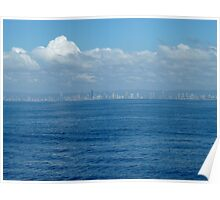 Surfers Paradise from the sea Poster