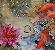 Fish Pond By Nicole Barros by Nicole Barros