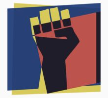 Pop Art Black Power Fist by retrorebirth
